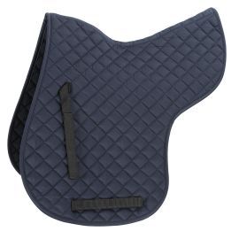 Shires Quilted Numnah-Medium-Navy Blue