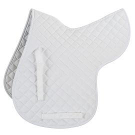 Shires Quilted Numnah-Large-White