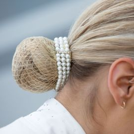 Equetech Triple Pearl Bun Ring Scrunchie
